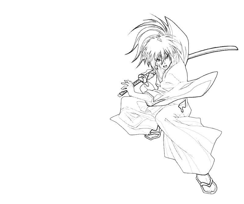 kenshin coloring pages | Kenshin Himura Weapon | Lean Printing