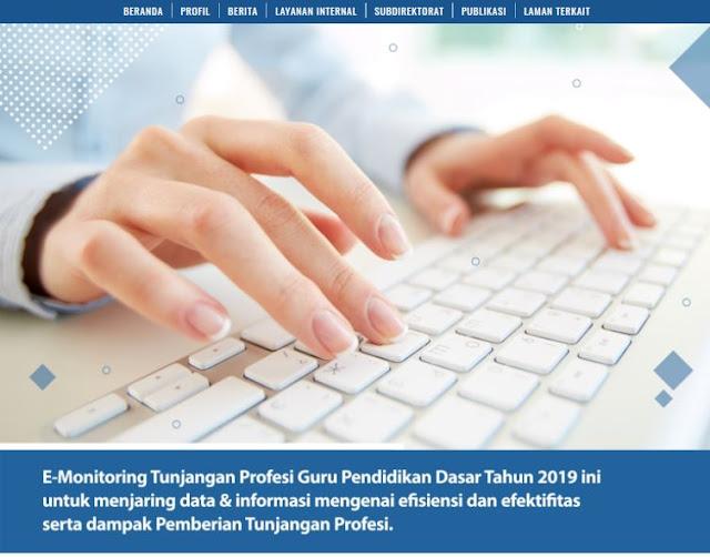 http://pgdikdas.kemdikbud.go.id/e-monitoring_tunjanganprofesi Aplikasi Tunjangan Profesi Guru Dikdas