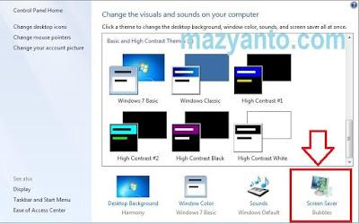 Cara Merubah dan Mengatur Screen Saver Windows 7 Terbaru