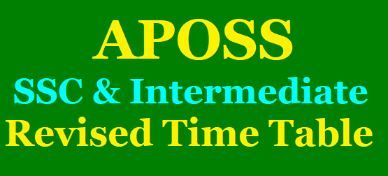 APOSS SSC/10th Class and Intermediate Revised Time Table - July 2020 /2020/06/APOSS-SSC-and-Intermediate-Revised-Time-Table-July-2020.html
