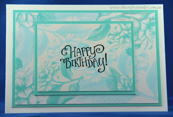 #thecraftythinker  #stampinup  #cardmaking  #simplecard #heatembossing #cardmakingforbeginners , Tea Room Memories & More card pack, heat embossing, Stampin' Up Australia Demonstrator, Stephanie Fischer, Sydney NSW