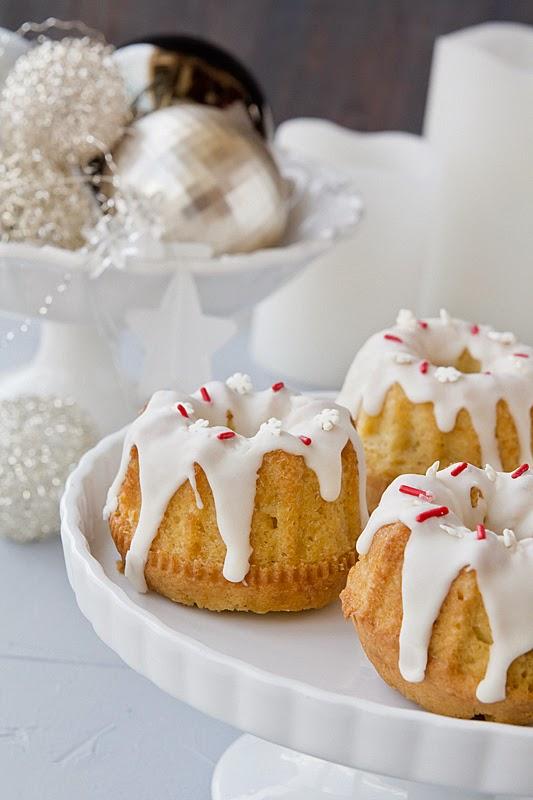 El gato goloso: recetas de Navidad -  Cupcakes de ponche crema o ponche de huevo (Eggnog Cupcakes)