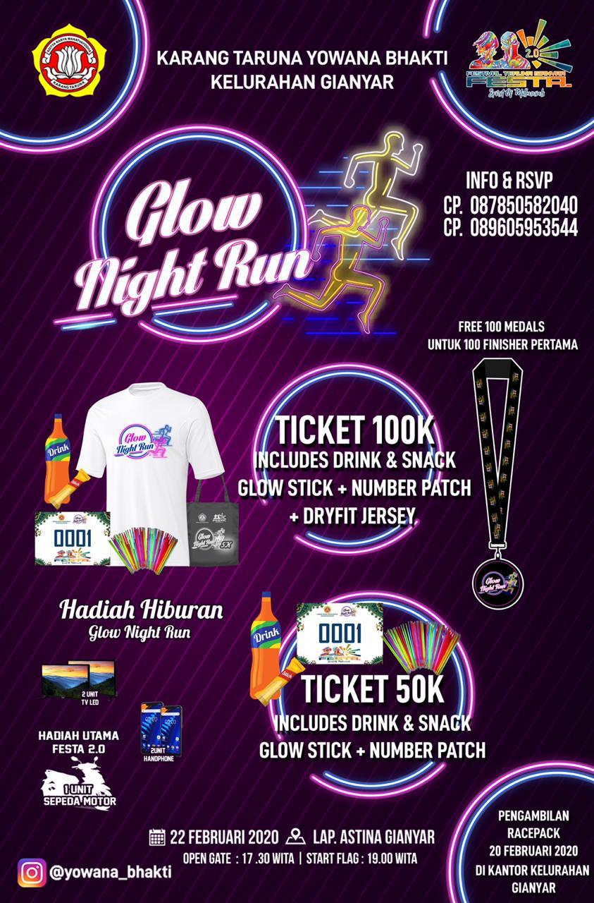 Gianyar Glow Night Run • 2020
