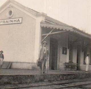 Estação de Prainha (Miracatu), por volta de 1920. Acervo: Maria A. Dutra Silva.