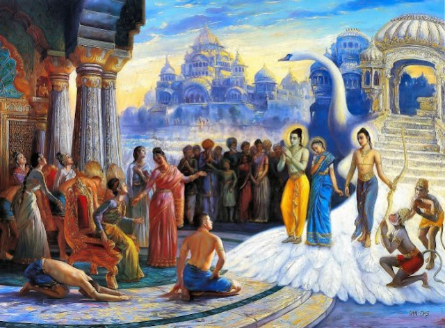 Ramayan Story In Hindi पुष्पक विमान द्वारा अयोध्या वापसी