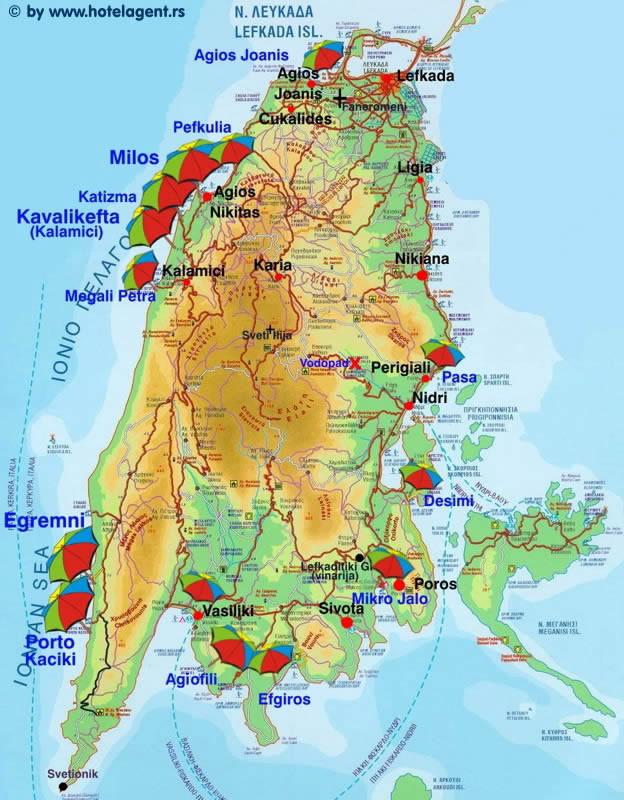 mapa lefkade hotelagent.rs: Nidri kao polazno mesto za istraživanje Lefkade mapa lefkade