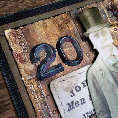 Sara Emily Barker http://sarascloset1.blogspot.com/ No Good Reason tutorial #tim holtz #sizzix3Dtexturefade #foundry #lumber 4