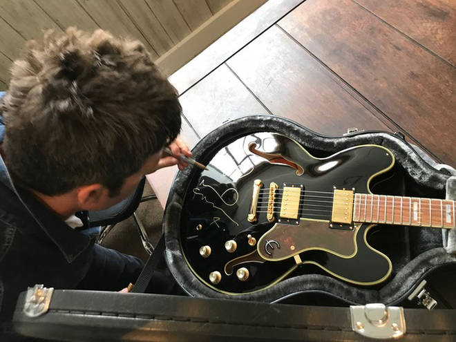Win A Guitar Signed By Noel Gallagher - Latest Oasis, Liam