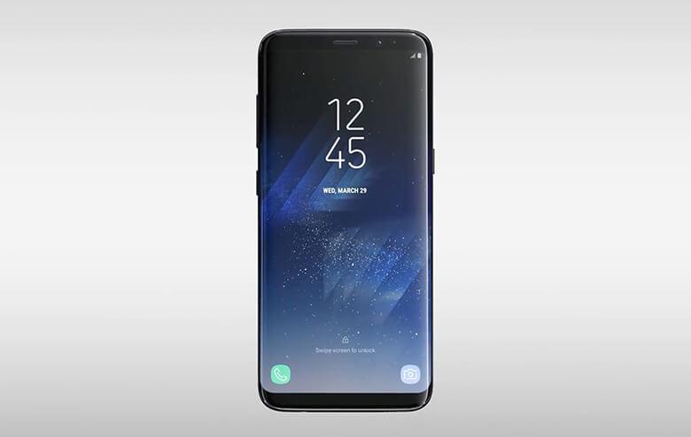 Galaxy S8 scree