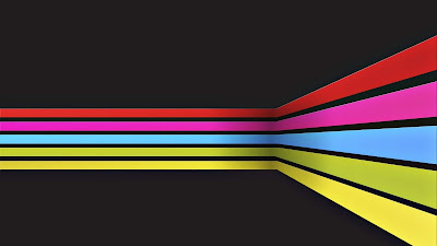 Fondo oscuro con linea de colores en el medio