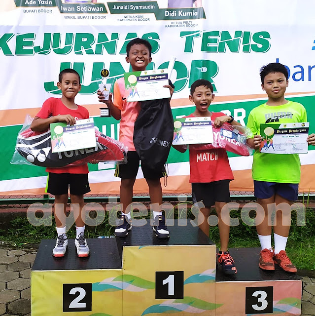 Kejurnas Tenis Yunior Piala Bupati Bogor: Tumbangkan Unggulan 1, Raihan Somantri Tampil Sebagai Juara