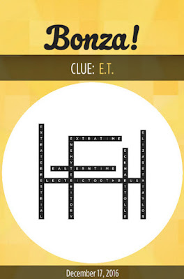 December 17 2016 Bonza Daily Word Puzzle Answers