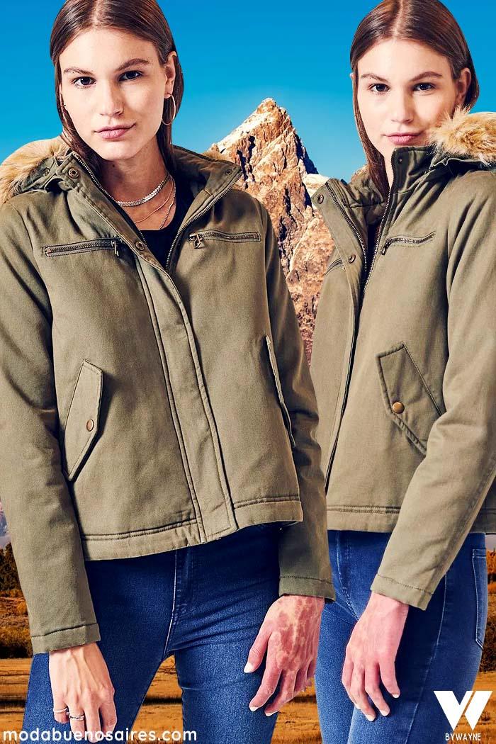 Camperas de moda de mujer invierno 2021