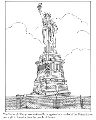 coloring pages statue of liberty - first day of second grade coloring page