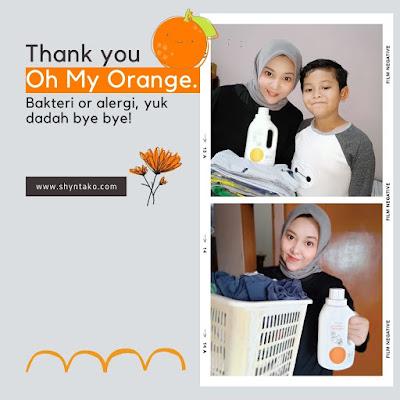 Formula Oh My Orange Laundry Detergent, anti bakteri, bebas pewarna dan zat aditif