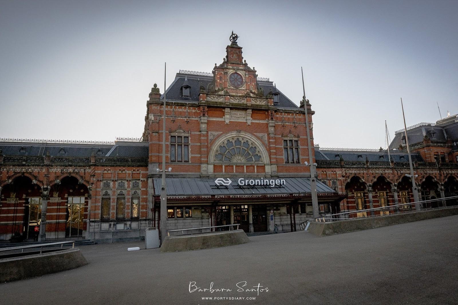 Train Station in Groningen.