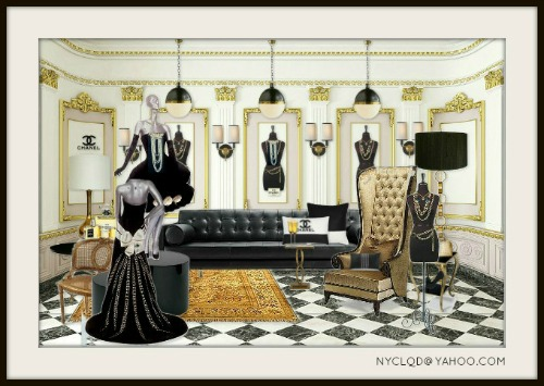FOCAL POINT STYLING MOODBOARD MONDAY BLACK  GOLD