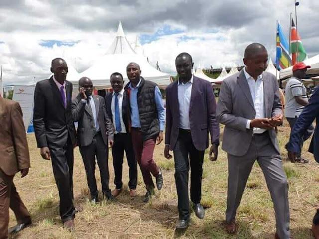 Nyandarua MCAs walking out of President Uhuru Kenyatta meeting in solidarity with their blocked colleagues. PHOTO | BMS