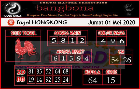 Prediksi HK 01 Mei 2020 - Bang Bona HK