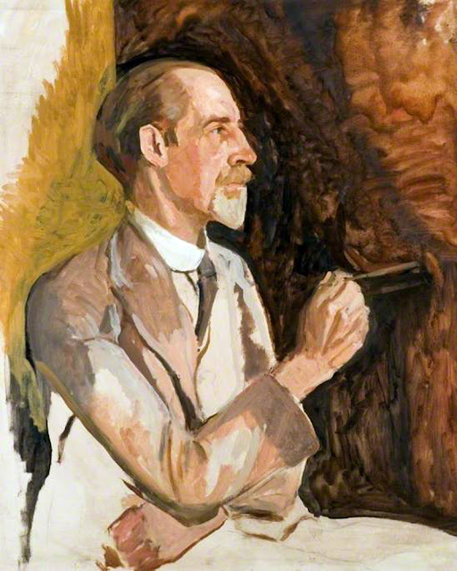 Algernon Talmage, Self Portrait, Portraits of Painters, Fine arts, Portraits of painters blog, Paintings of Algernon Talmage, Painter Algernon Talmage