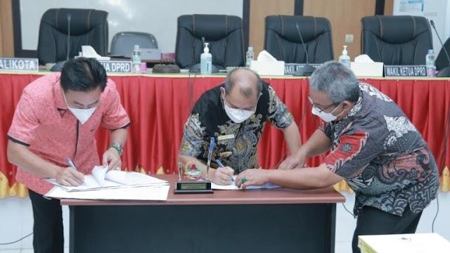 Nota Kesepakatan KUA- PPAS PAPBD TA 2021 Ditandatangani Pemko Gunungsitoli dan DPRD