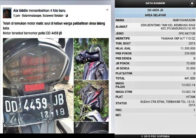 Motor Matic Yang Ditemukan, Warga, Dusun ,Pabbateang, Sudah, Ditangani, Pihak ,Berwajib