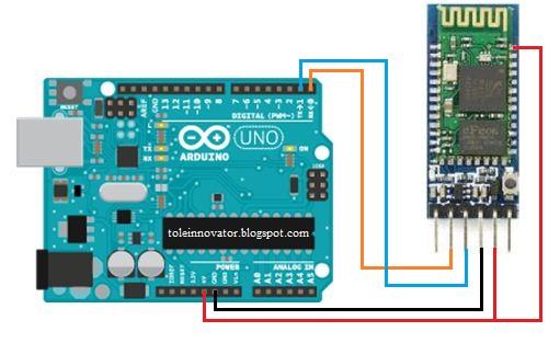 Rangkaian Setting bluetooth HC-05 arduino