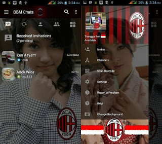 BBM MOD Change Background with AC Milan v3.1.0.13 APK