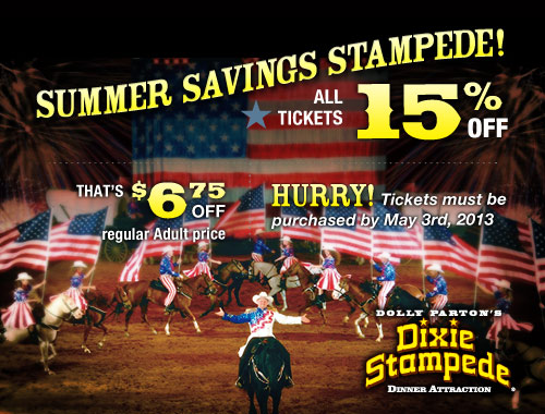 Save 15 On Dixie Stampede Tickets For Limited Time Only