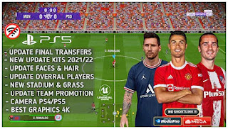 Download eFootball PES 2022 PPSSPP CR7 Edition Final Update & Latest Kits And Transfer