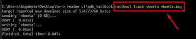 coding perintah flash vbmeta