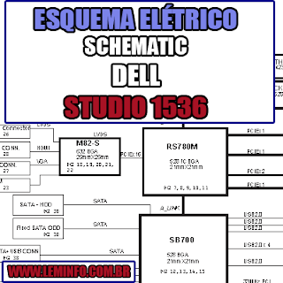 Esquema Elétrico Manual de Serviço Notebook Laptop Placa Mãe Dell Studio 1536 Schematic Service Manual Diagram Laptop Motherboard Dell Studio 1536 Esquematico Manual de Servicio Diagrama Electrico Portátil Placa Madre Dell Studio 1536