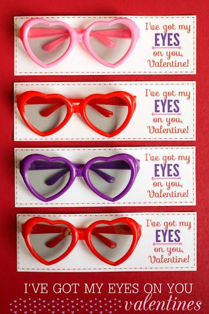 Glasses Valentines, non-candy valentines, kids valentines, DIY valentines