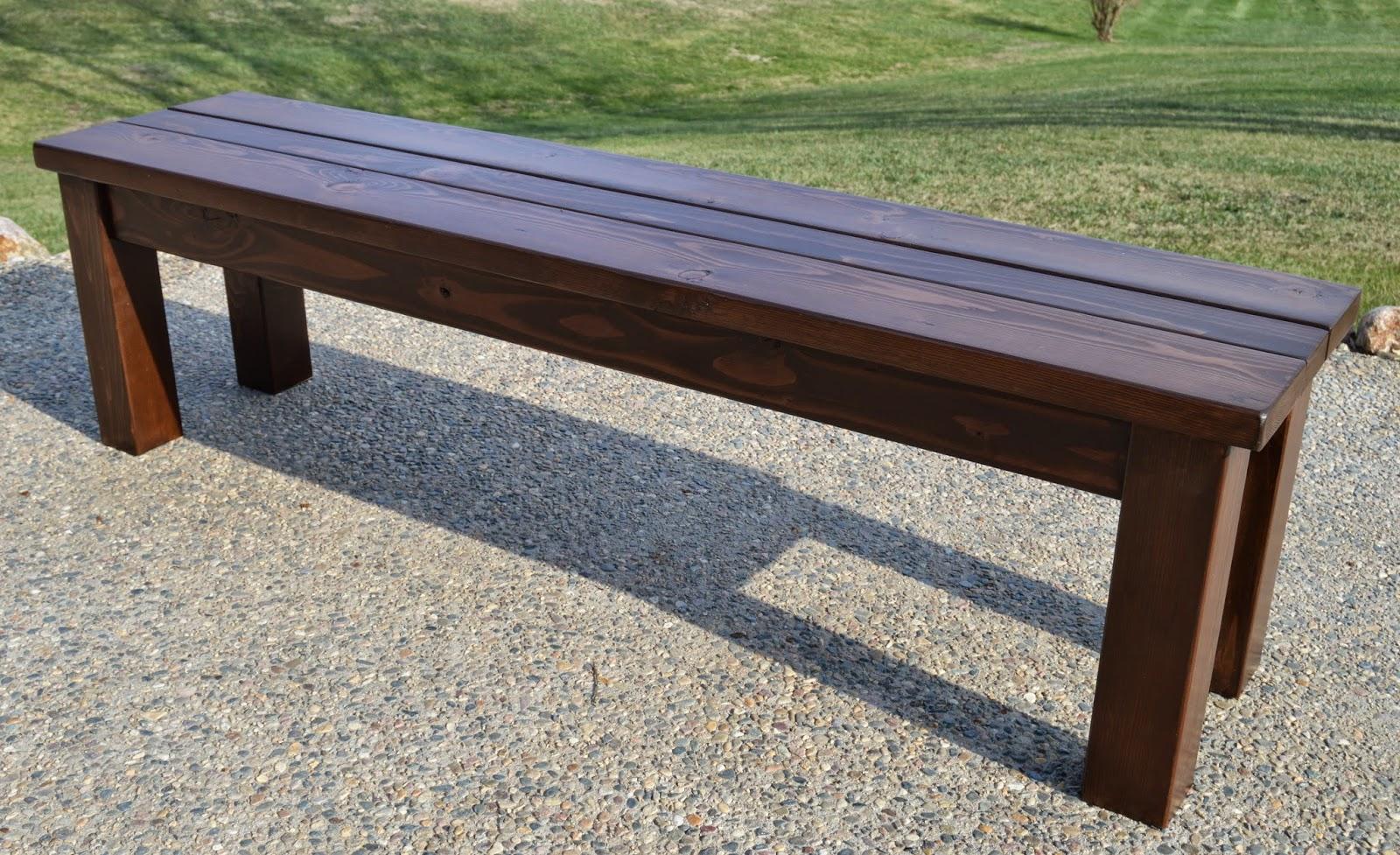 Kruse S Workshop Simple Indoor Outdoor Rustic Bench Plan