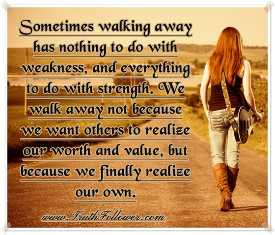 walking away from a casual relationship with the truth