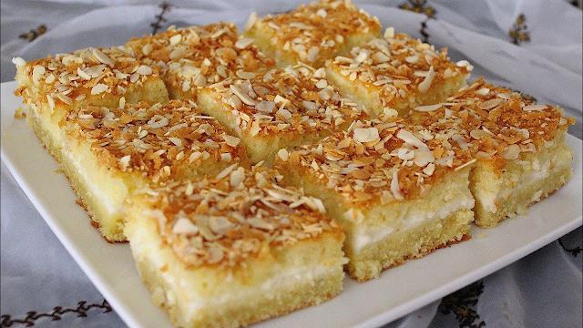 طريقة عمل البسبوسة التركية الباردة أرقى حلويات العيد
