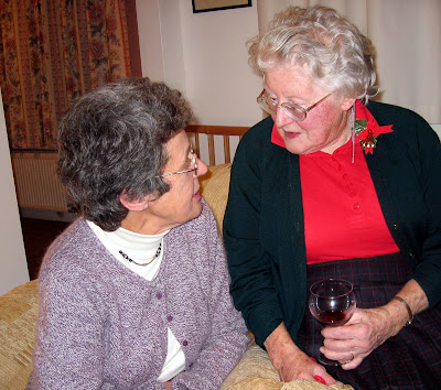 Elaine (left) and Ruth (right) at Christmas fundraising