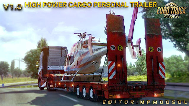 High Power Cargo Personal Trailer Mod for Multiplayer V1.0 (1.38.x)