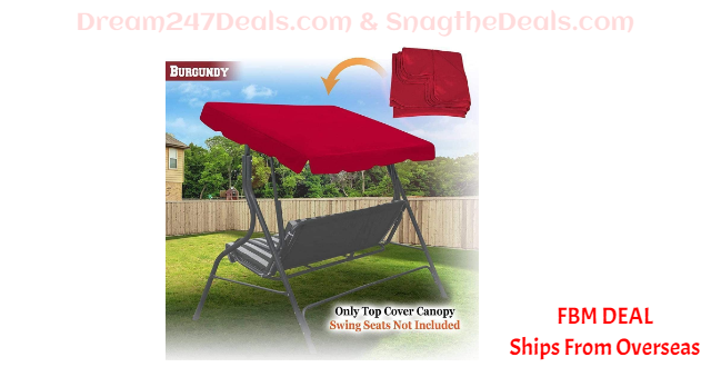80%  off  Patio Outdoor Swing Canopy Replacement