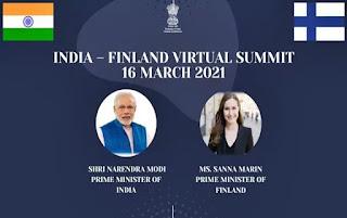 India-Finland Virtual Summit 2021