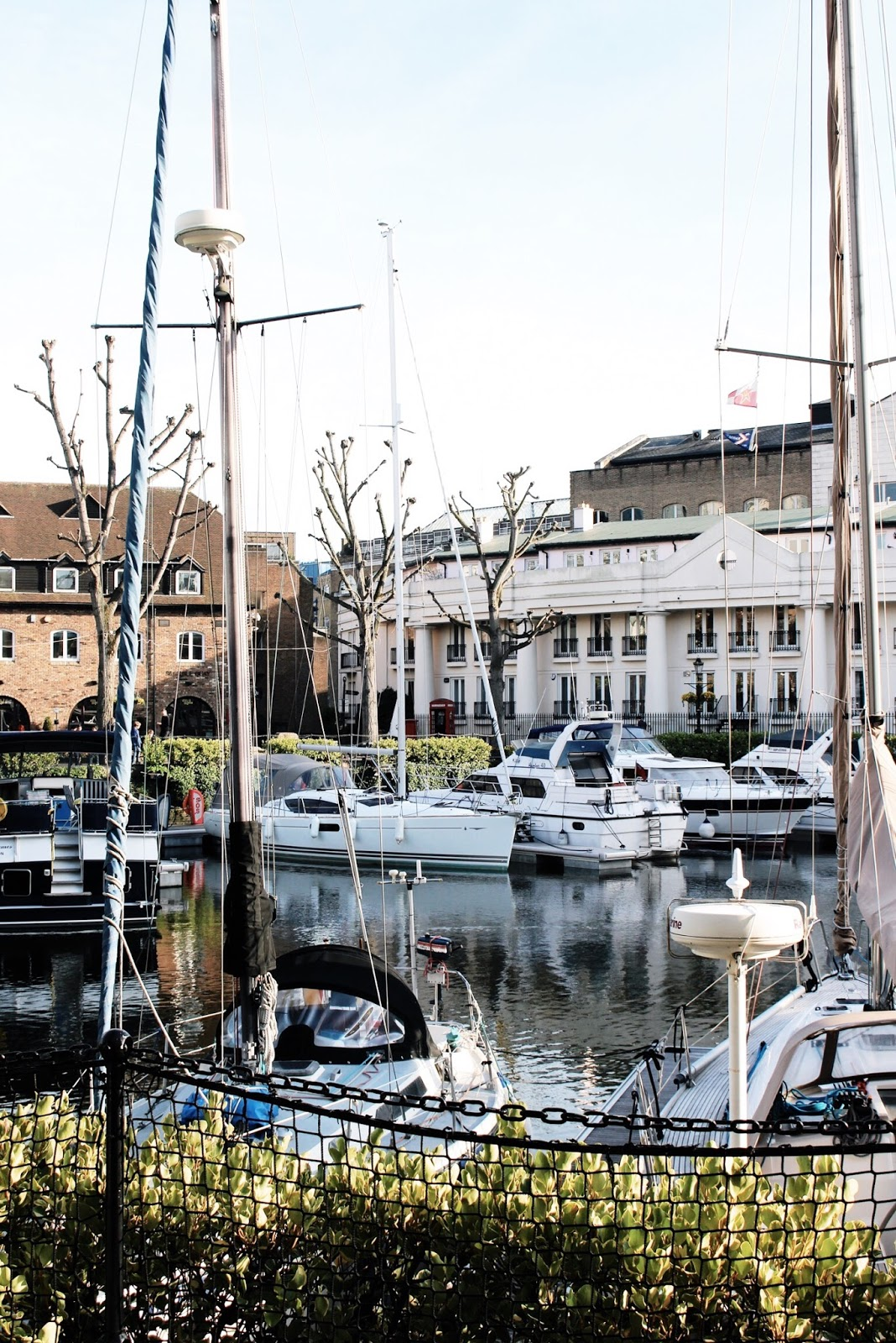 Boats at St Katharine Docks Summer