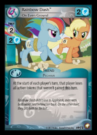 My Little Pony Rainbow Dash, On Even Ground Equestrian Odysseys CCG Card