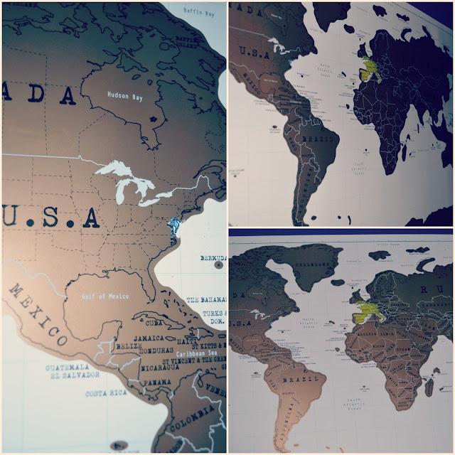 nature et découvertes, carte du monde, map, carte à gratter