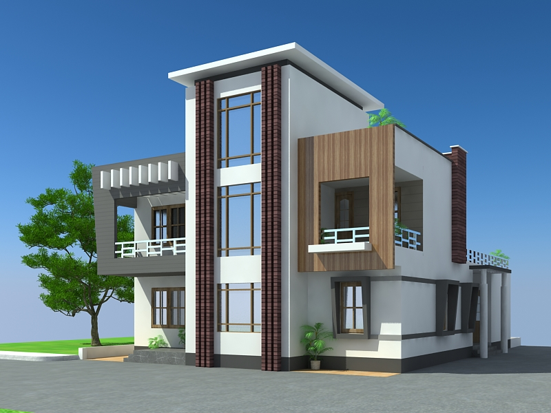 Lohegaon Pune Duplex House Design