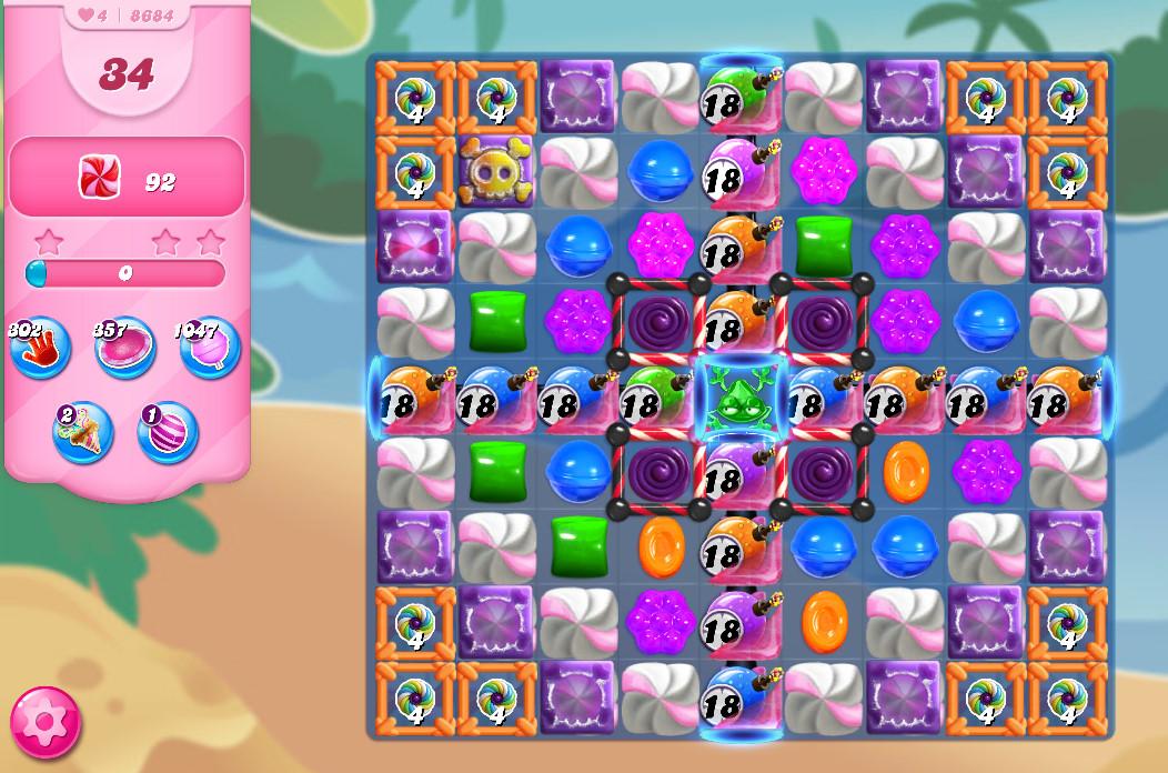 Candy Crush Saga level 8684