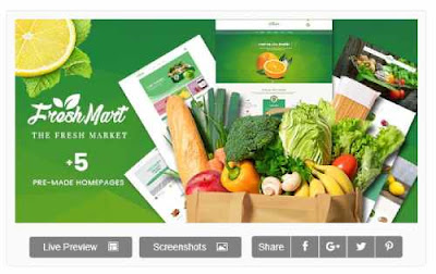 Download Theme Wordpress FreshMart - PrestaShop 1.7