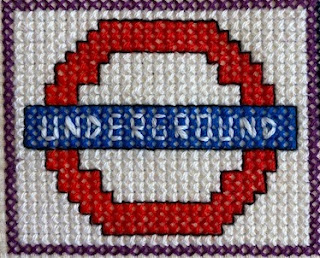 London Underground cross stitch design