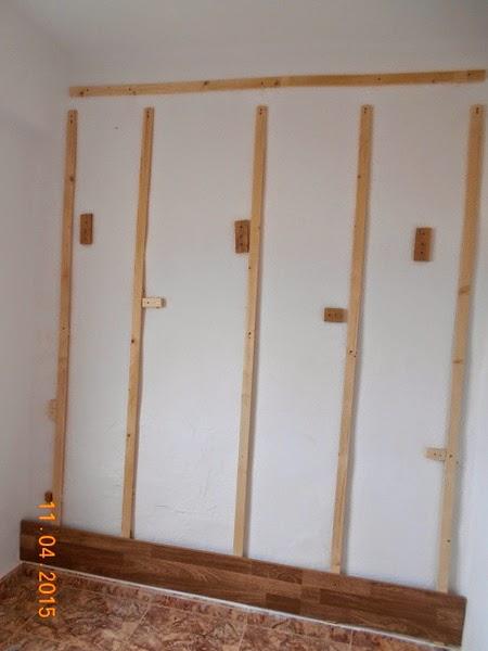 Como colocar piso laminado na parede diy decora o e - Papel para revestir paredes ...