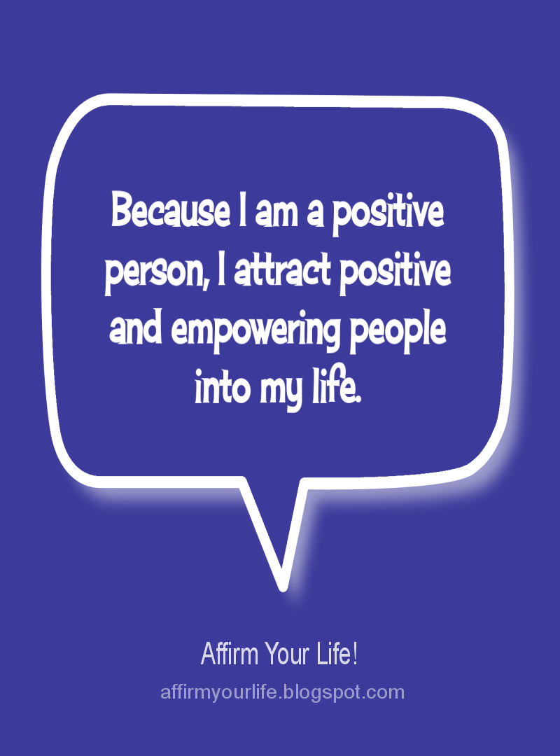 POSITIVE THINKING affirmation