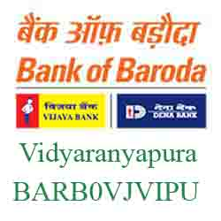 Vijaya Baroda Bank Vidyaranyapura Branch New IFSC, MICR